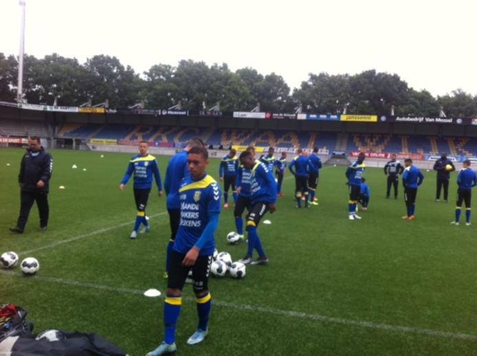 Bij RKC Waalwijk trainen ook de beloften mee in de aanloop naar de eerste oefenwedstrijd.