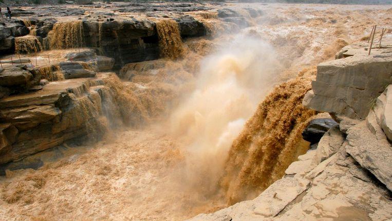 De Hukou waterval in de Gele Rivier. Beeld Wikipedia