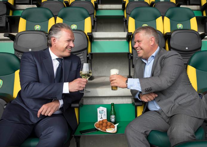 ADO-directeuren Mattijs Manders (links) en Henrik-Jan Rinner.