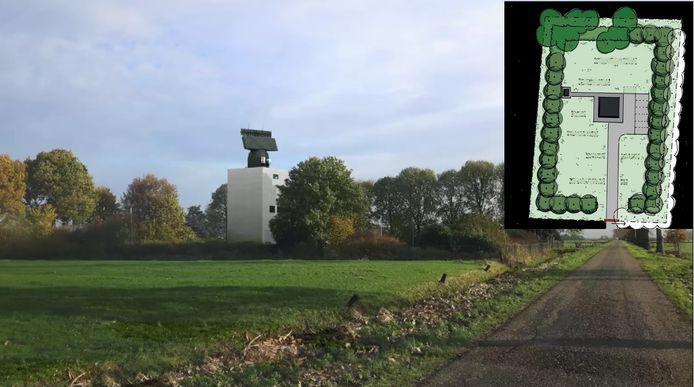 Een impressie van de nieuwe defensieradar die volgens Defensie in Herwijnen moet verrijzen.