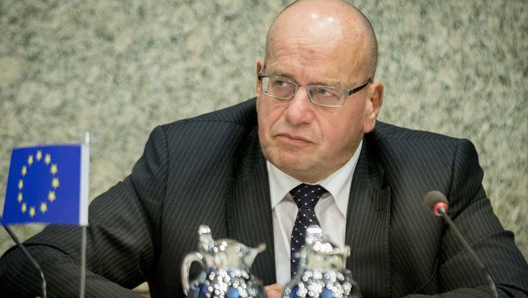 Fred Teeven tijdens het gesprek over het associatieakkoord tussen Oekraine en de Europese Unie. Beeld anp