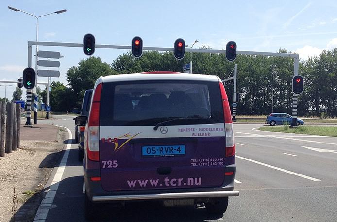 Busje van TCR.