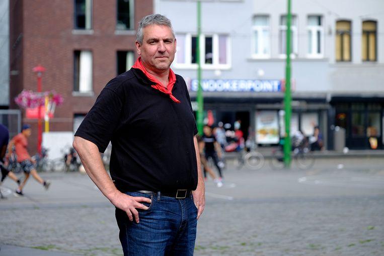 De voorzitter van de Antwerpse ABVV-afdeling Bruno Verlaeckt (archiefbeeld).