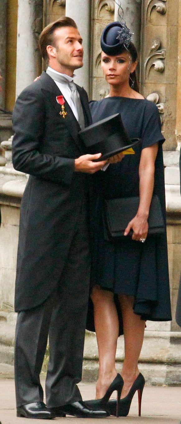 Victoria droeg tijdens het huwelijk van prins William en Kate torenhoge Louboutins en liet ook haar panty achterwege.