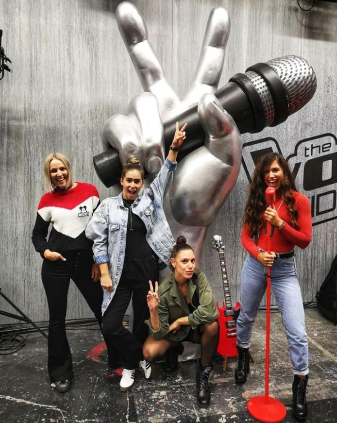 De vier meiden bij The Voice of Holland.