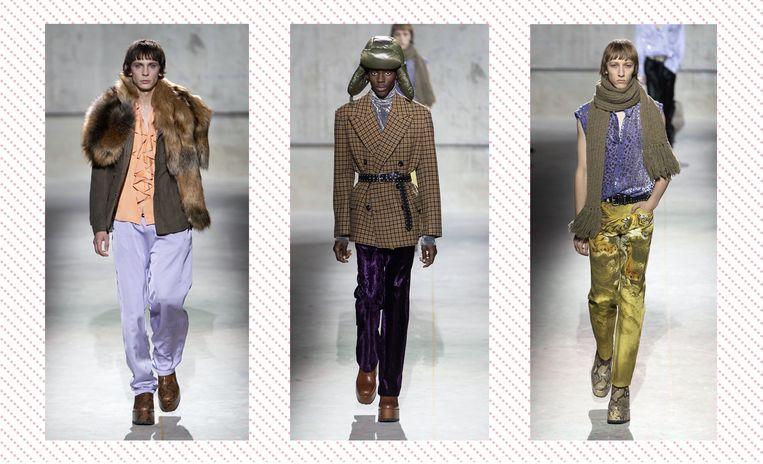 Als het van Dries Van Noten afhangt, gaat de man ook aan de hak. Foto's van Paris Fashion Week.