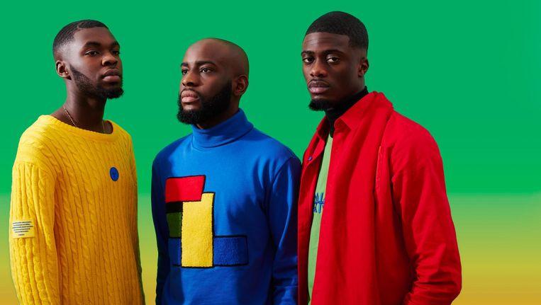 Jeffrey Mensah, Dan Afrifa en Dyllan Ahinful dragen ontwerpen uit hun tweede collectie #Colorlife Beeld Peggy Kuiper