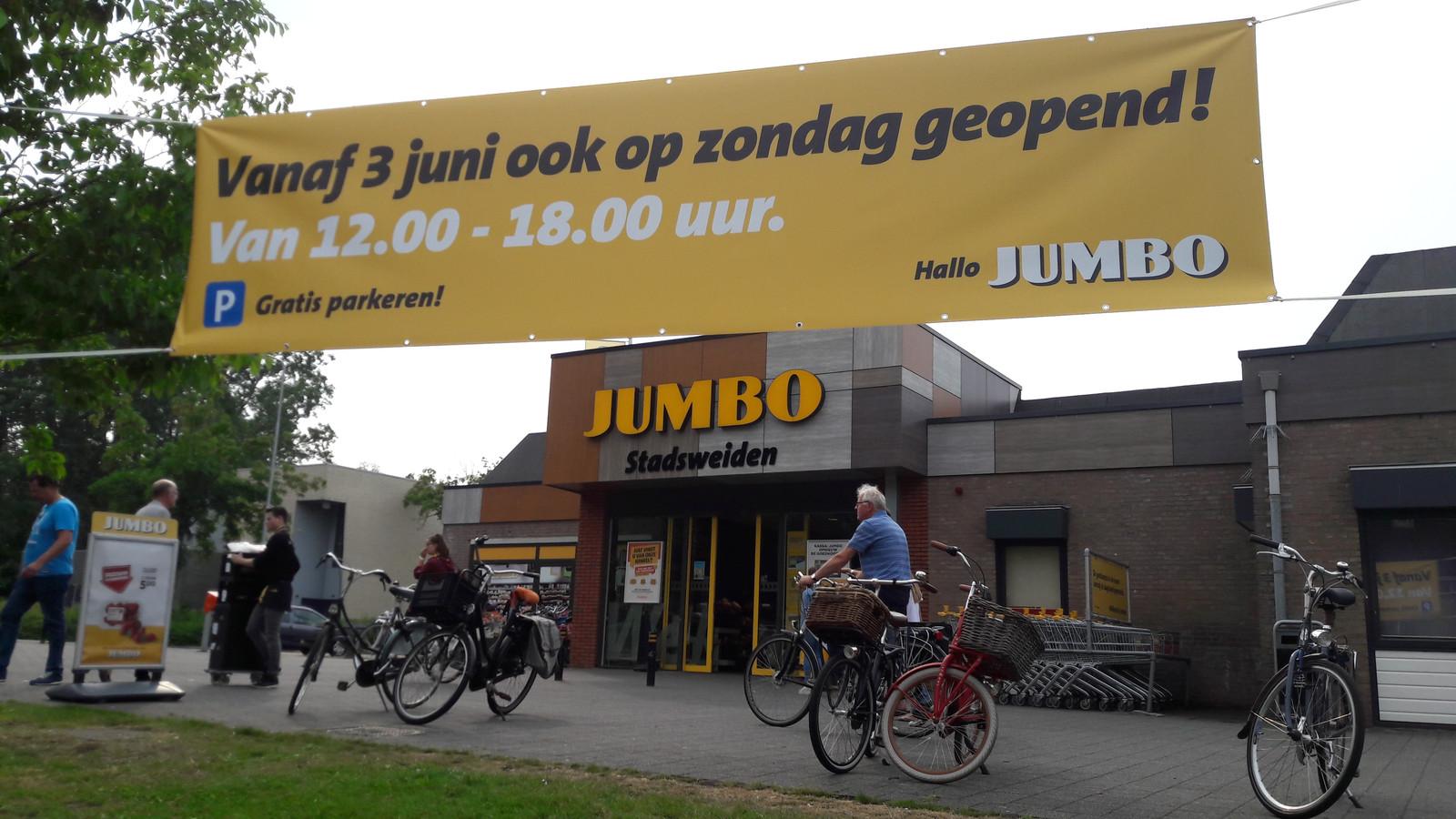 Het mag dit jaar vanaf 1 juni tot en met 30 september. De Jumbo in de wijk Stadsweiden springt daar direct op in.