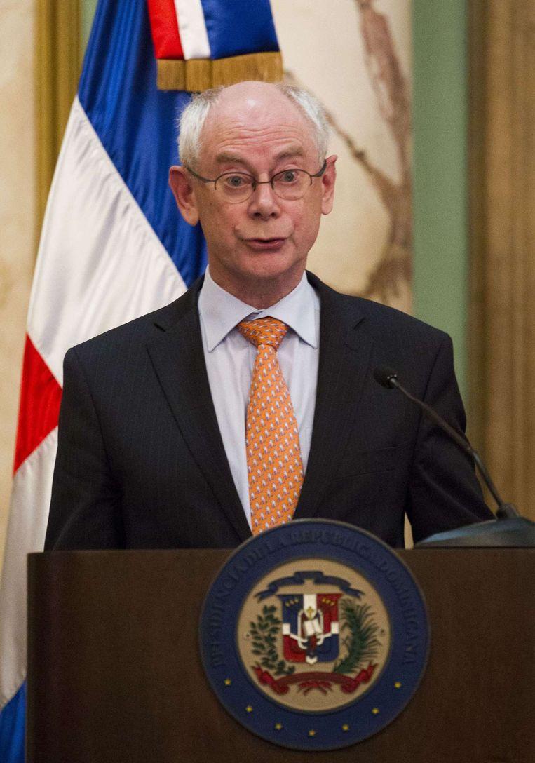 Herman van Rompuy, voorzitter van de Europese Raad. Beeld belga