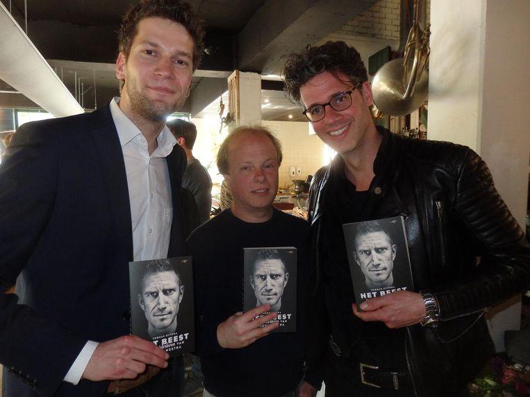 Broer Ruben Sijtsma (Cambuur), huisvader Karlan Astrego en presentator Erik Dijkstra. Het gaat niet zo goed met hem (FC Twente). Beeld Schuim