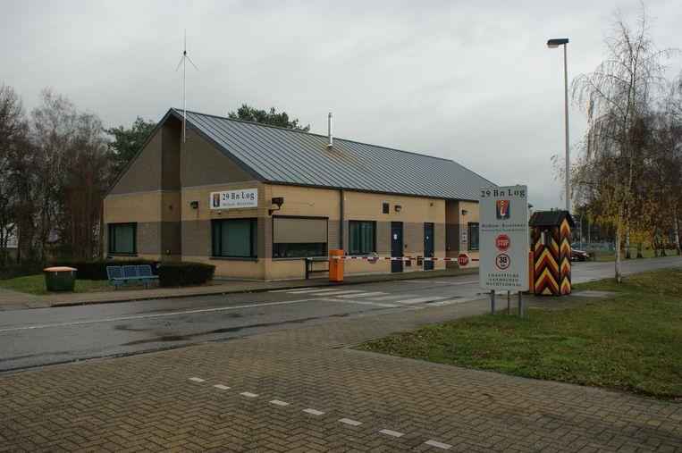 De ingang van het militaire domein te Grobbendonk.