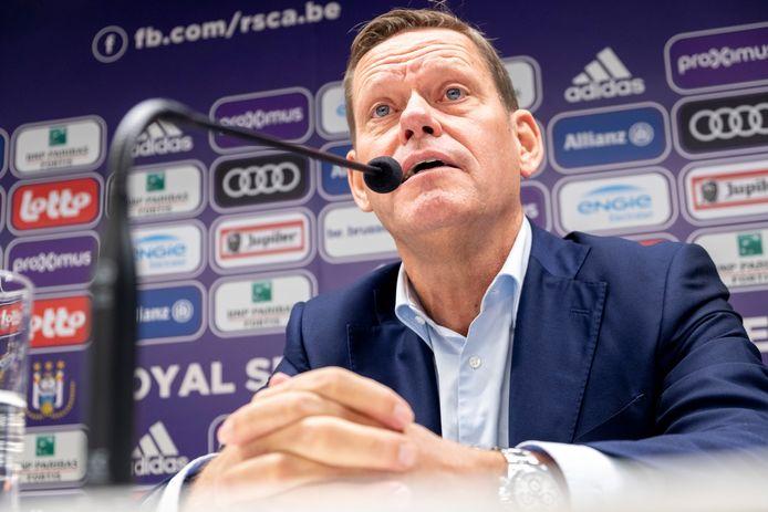 Frank Arnesen als technisch directeur van Anderlecht.