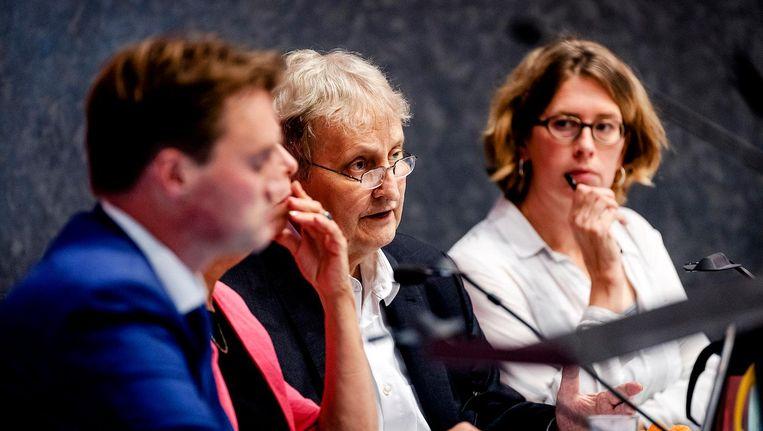 Van der Laan tijdens een debat in de gemeenteraad. Beeld anp