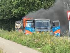 Viskar brandt uit onderweg van Vorden naar markt in Zelhem