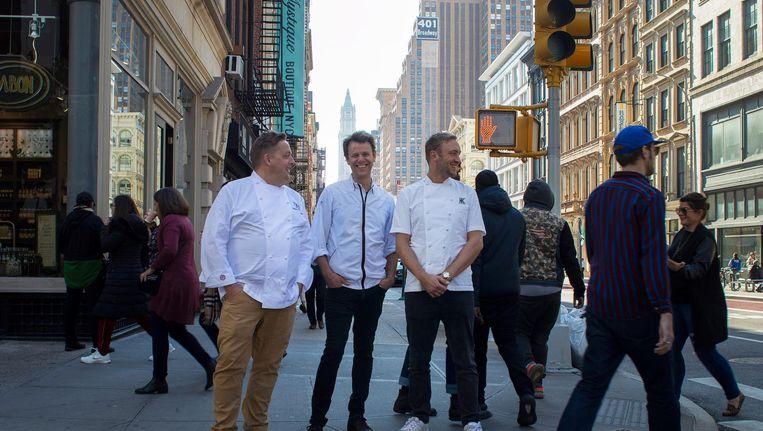 De drie Nederlandse chefs in New York Beeld Arno Bosma