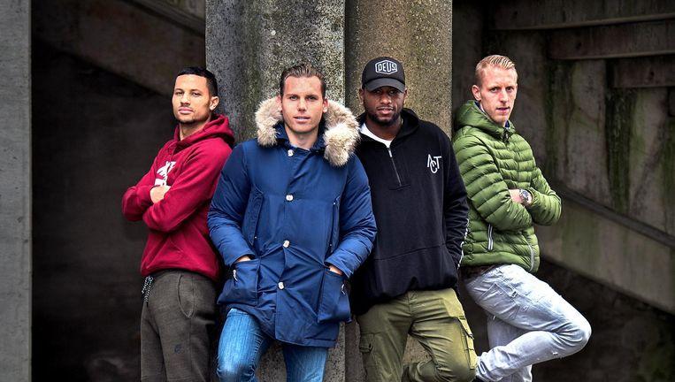 Herkent u de gezichten nog van deze oud-Eredivisie spelers? Beeld Klaas Jan van der Weij