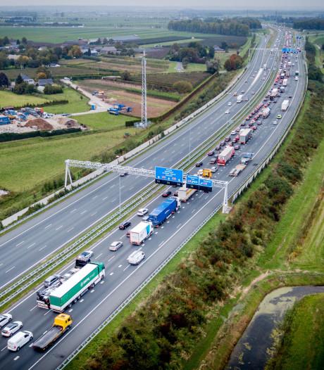 Als A15 er komt, dan met tol voor vrachtwagens