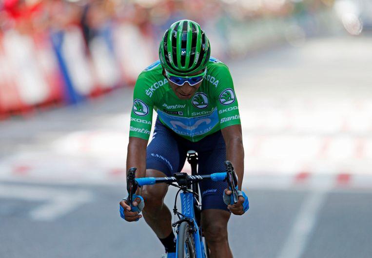 Nairo Quintana wordt tweede in het algemeen klassement.