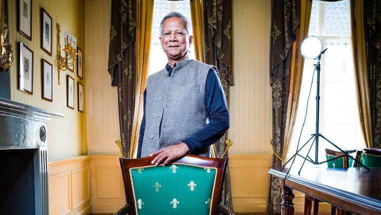 Muhammad Yunus. Beeld Freek van den Bergh / de Volkskrant