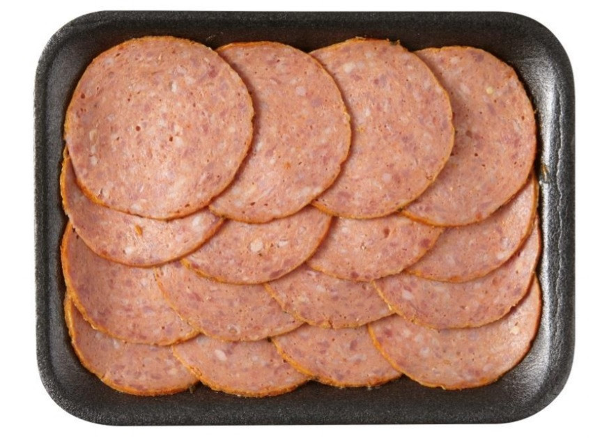 De vleeswaren van Hoogvliet.