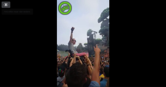 Daniel Boot in de lucht op Tomorrowland