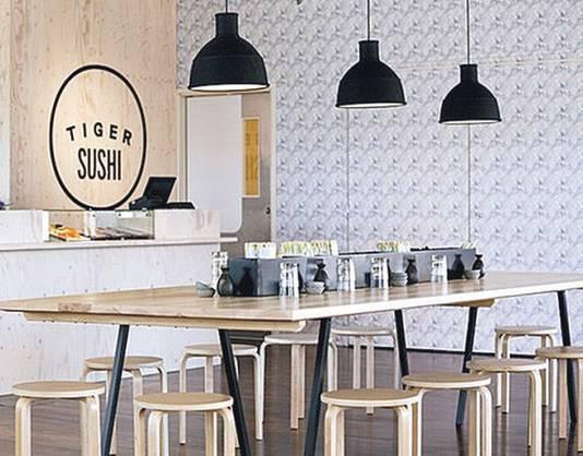 Design van Muuto bij Tiger Sushi.