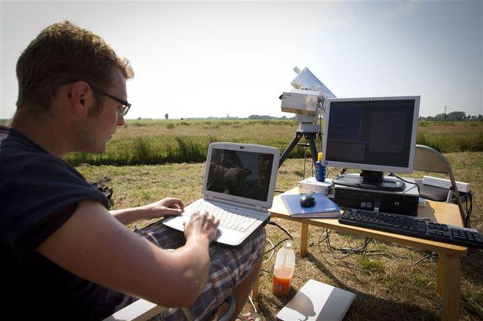 Ter illustratie: fijnstofgehaltes in de lucht worden gemeten in agrarisch gebied.