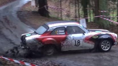 Rallypiloot gaat van de baan in provincie Luxemburg: vier gewonden