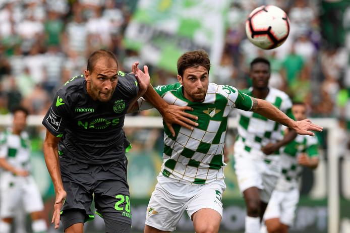 Bas Dost in actie tegen Moreirense.