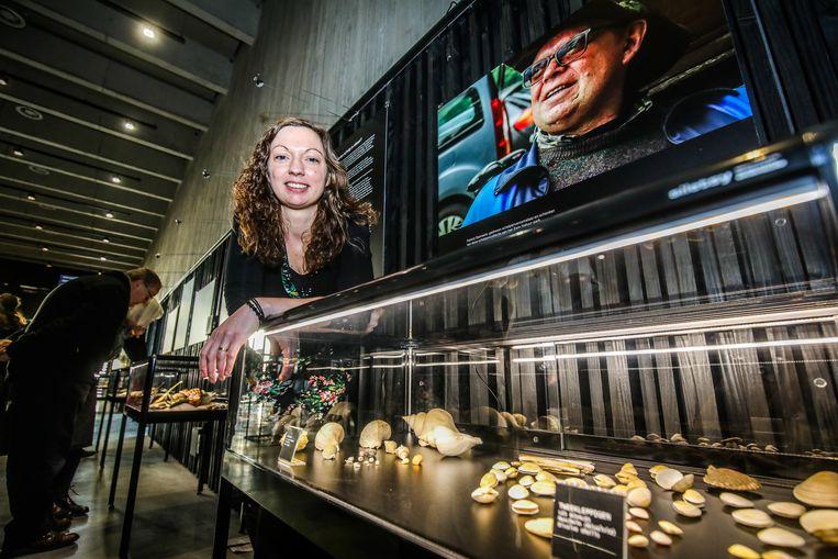 In het Zwin wordt de schelpencollectie van de inmiddels overleden vader van Femke Danneels tentoongesteld