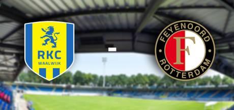 Feyenoord na Europees gelijkspel op bezoek in Waalwijk