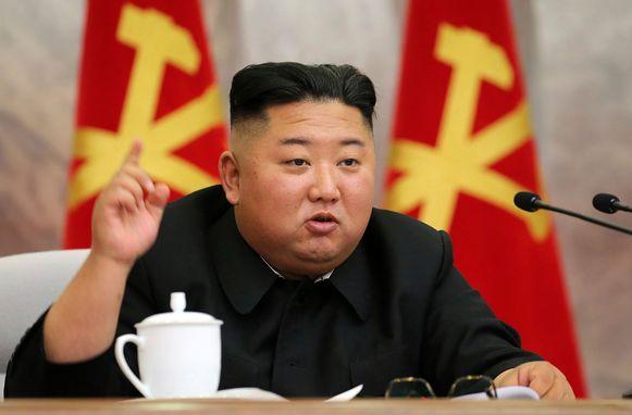 Ongedateerde foto van de Noord-Koreaanse leider Kim Jong-un.