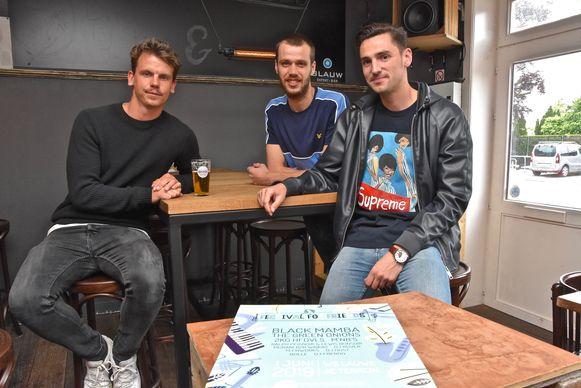De organisatoren Kjell Braem, Simon Viane en Gaël Agneray