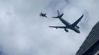 Noorden van Antwerpen opgeschrikt door Nederlandse militaire oefening met tankvliegtuig en F16's