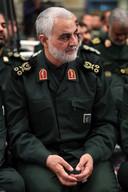 Generaal Qassim Soleimani, hoofd van de 'buitenlanddivisie' van de Republikeinse Garde in Iran, wordt gezien als een van de belangrijkste militaire adviseurs van Assad. (Office of the Iranian Supreme Leader via AP)