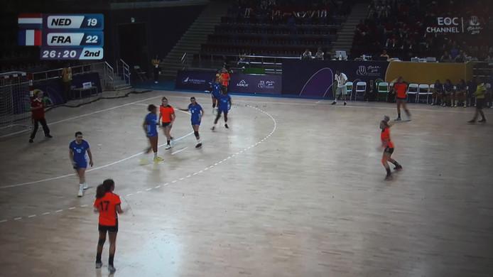 Beeld uit de finale Nederland - Frankrijk.