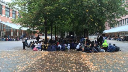 Leerlingen HDC en SPC in zitstaking tegen fusie met andere Leuvense scholen