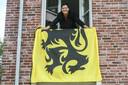Gerda Van Steenberge hangt de vlag normaal alleen maar uit als er wat te vieren valt.