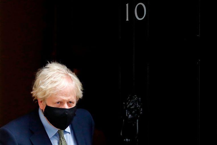 Boris Johnson: 'Nu is het tijd voor onze bedrijven, transporteurs en reizigers om zich voor te bereiden.' Beeld Tolga Akmen/AFP