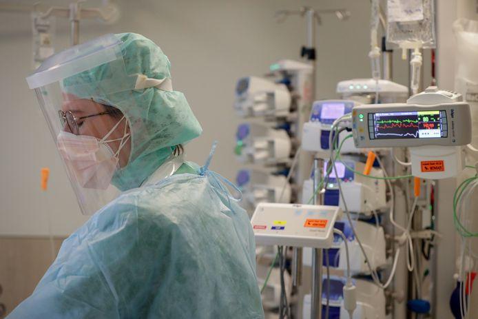L'unité Covid de l'hôpital d'Etterbeek-Ixelles, ce mardi 20 octobre.