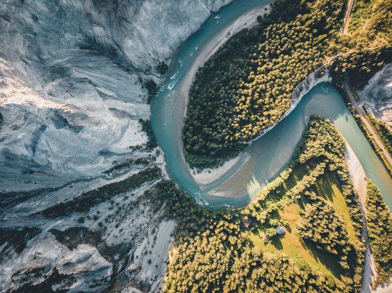 De Rheinschlucht, de Grand Canyon van Zwitserland.  Beeld Rinkie Bartels