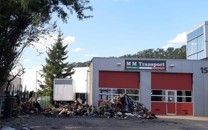 Zo ziet de plek waar de vrachtwagen in brand ging er nu uit in Doesburg.