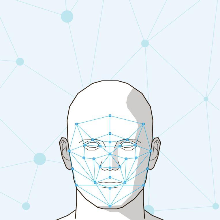 Methodiek voor gezichtsherkenning. Beeld null
