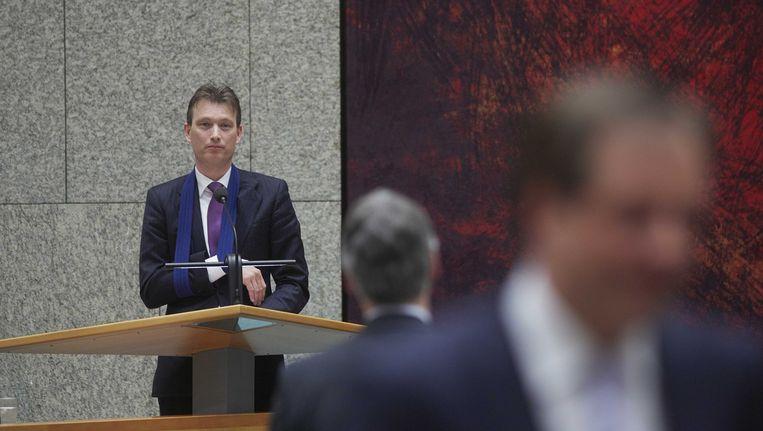 VVD-fractievoorzitter Zijlstra, begin maart in de Tweede Kamer. Beeld ANP