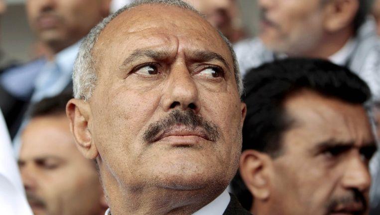 Afgezet president Ali Abdullah Saleh. Beeld reuters