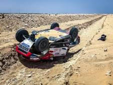 Opnieuw pech voor Van Loon in Qatar: auto belandt op zijn kop