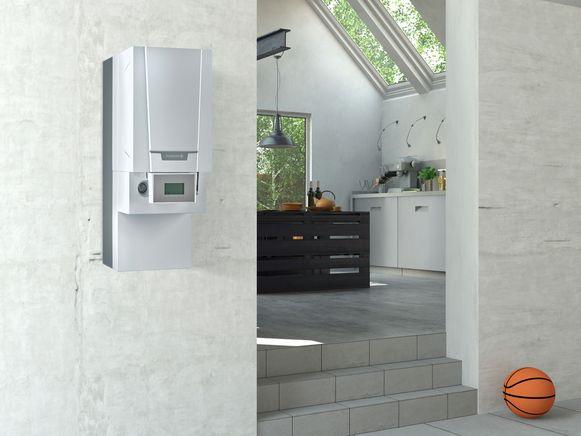 Een hybride-opstelling bestaat uit een condensatieketel op gas en een lucht-waterwarmtepomp. Deze twee systemen verwarmen je woning en sanitair water.