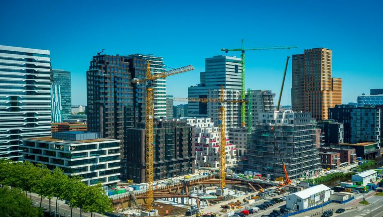 De VVD pleit ervoor meer kantoren te gaan bouwen in Amsterdam Beeld anp