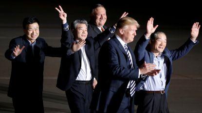 Midden in de nacht, maar Trump verwelkomt vrijgelaten gevangenen zelf