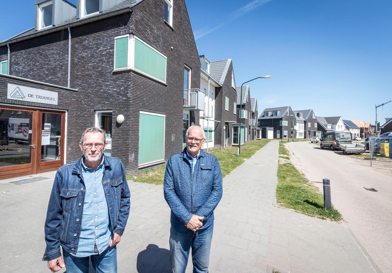 Mede-initiatiefnemers Jos Fleskens (l) en Fons van den Heuvel.